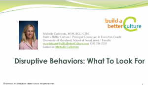 Disruptive Behaviors: What to Look For